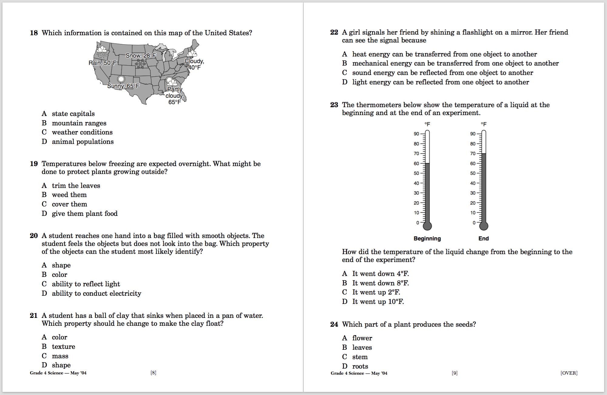 exam-snapshot  Th Grade Science Answers on